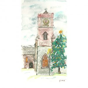Petworth St Marys Christmas Card by Clare Jackman