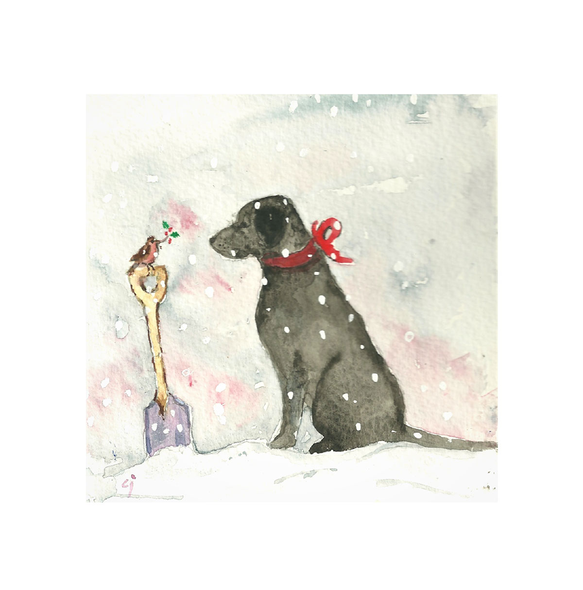 Frankie and Ralph Christmas Card by Clare Jackman